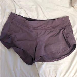 "Lululemon Purple Speed Up Short 2.5"""